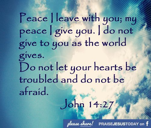 Peace Of Mind Gives His People Supernatural Peace That Will Be There Quotes From The Biblebible