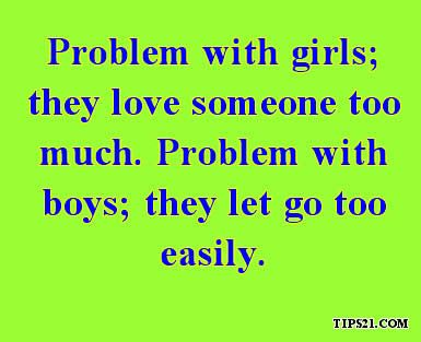 Problems With Boys Girls Most Liked Facebook Status