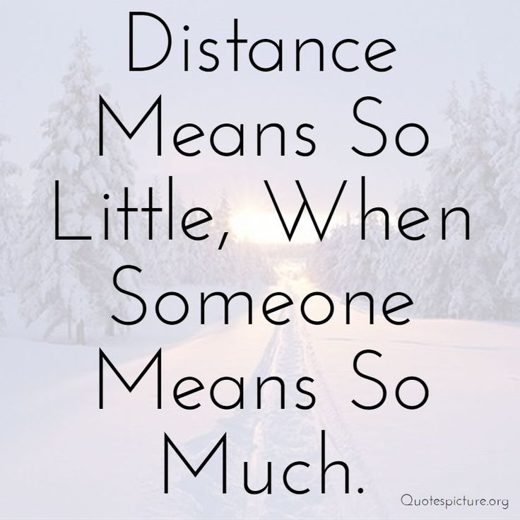 Distance and relationships