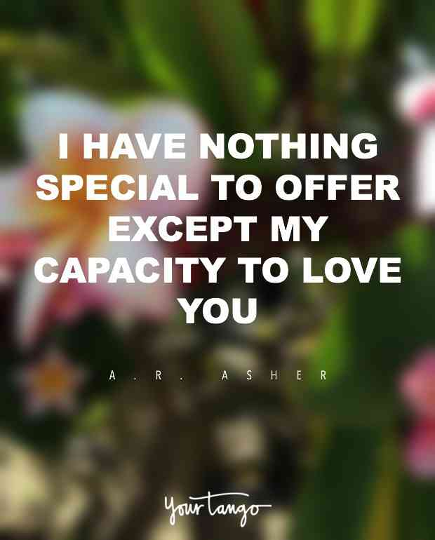 I Have Nothing Special To Offer Except My Capacity To Love You