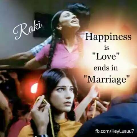 Happiness Is Love Ends In Marriage