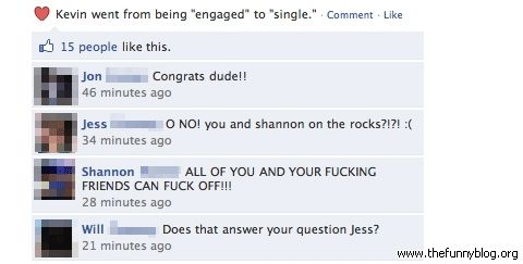 Funny Facebook Engaged Single Status