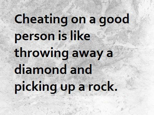 Loving a cheater