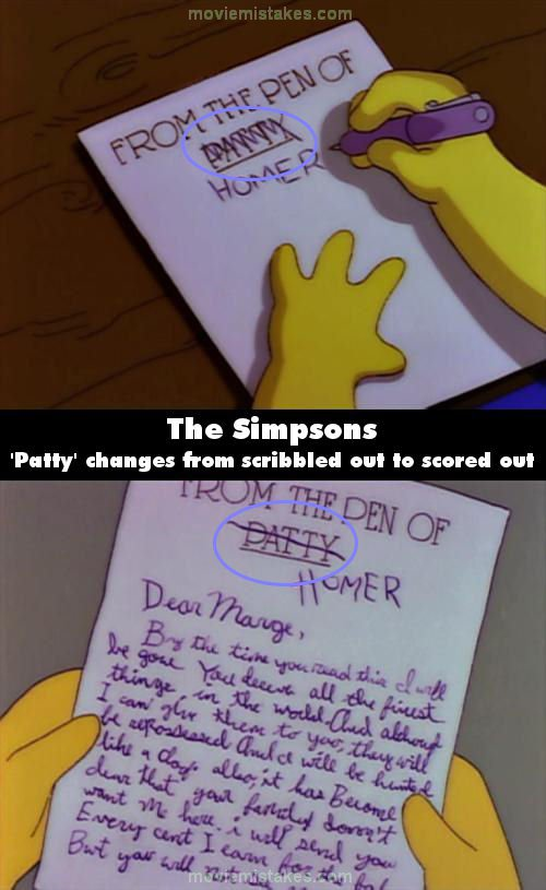 The Simpsons Mistake Picture