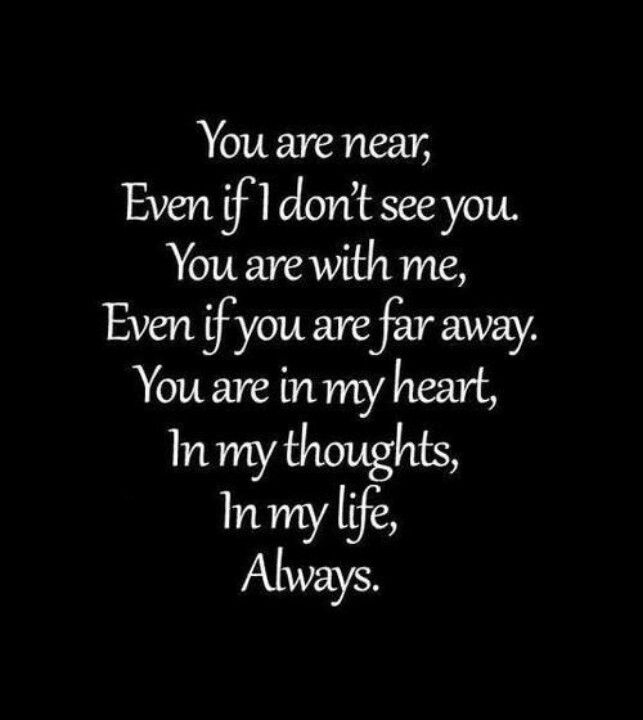 To My Mom And Dad You Are Near Even If I Dont See You You Are With Me Even If You Are Far Away You Are In My Heart In My Thoughts