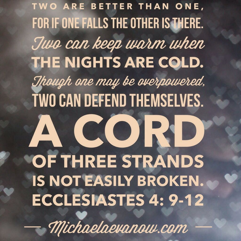 Ecclesiastes   A Cord Of Three Strands Is Not Easily Broken Marriage Scripturewedding