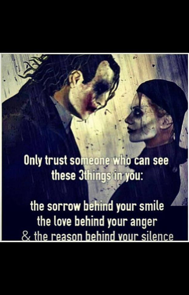 Joker And Harley Quinn Quote One Of The Reason I Only Trust Like Two People