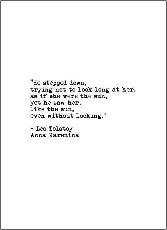 Anna Karenina Love Quote Retro Typewriter By Jenniferdaredesigns