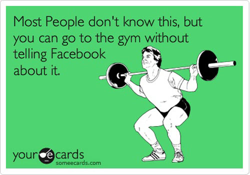Funny Quote Gym Facebook People Im Guilty Of This