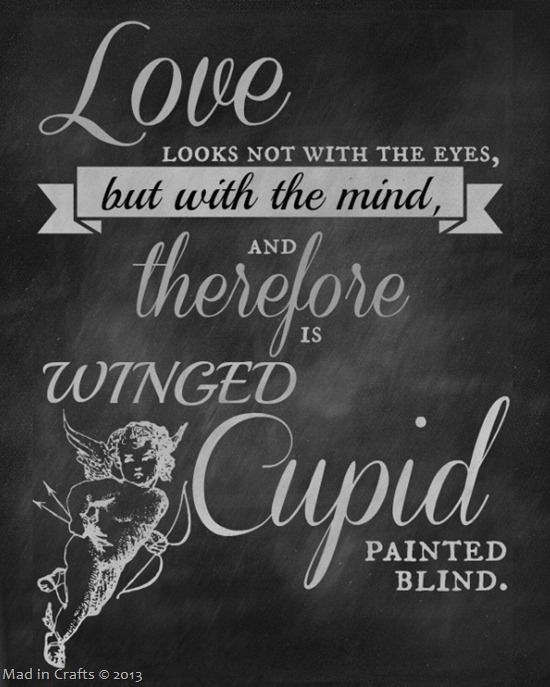Printable Chalkboard Shakespeare Quotes For Valentines Day
