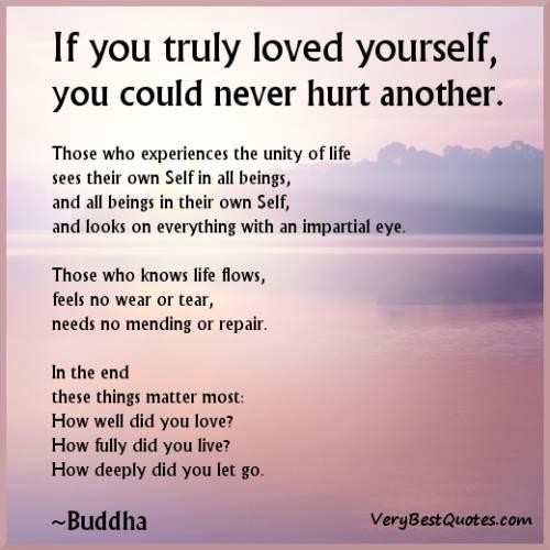 Love Yourself Buddha Quotes