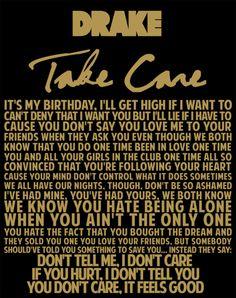 Drake Take Care Lyrics Quote