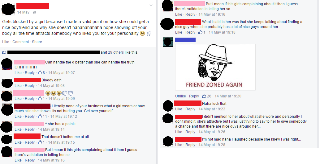 Went Down His Facebook Wall A Bit And Saw Another Status When The Same Guy Commented