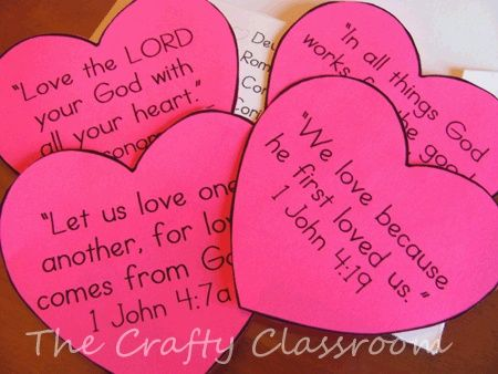 Bible Verses About Love For Children Good Idea For Valentines Or Month Of February For Sunday School