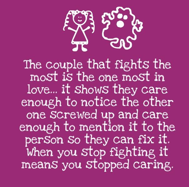 Positive Love Quote For Fighting Couples