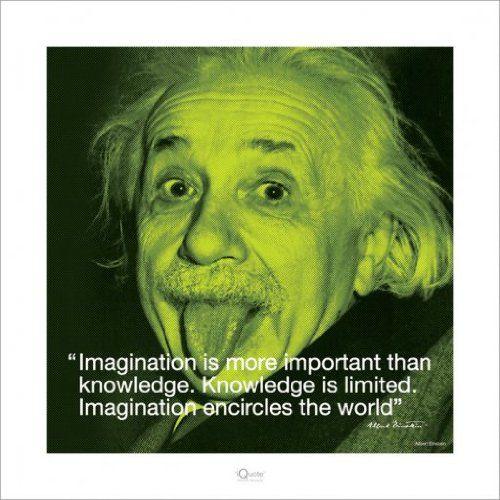 Albert Einstein Zitat Fantasie Ist Wichtiger Als Wissen Denn Wissen Ist Begrenzt