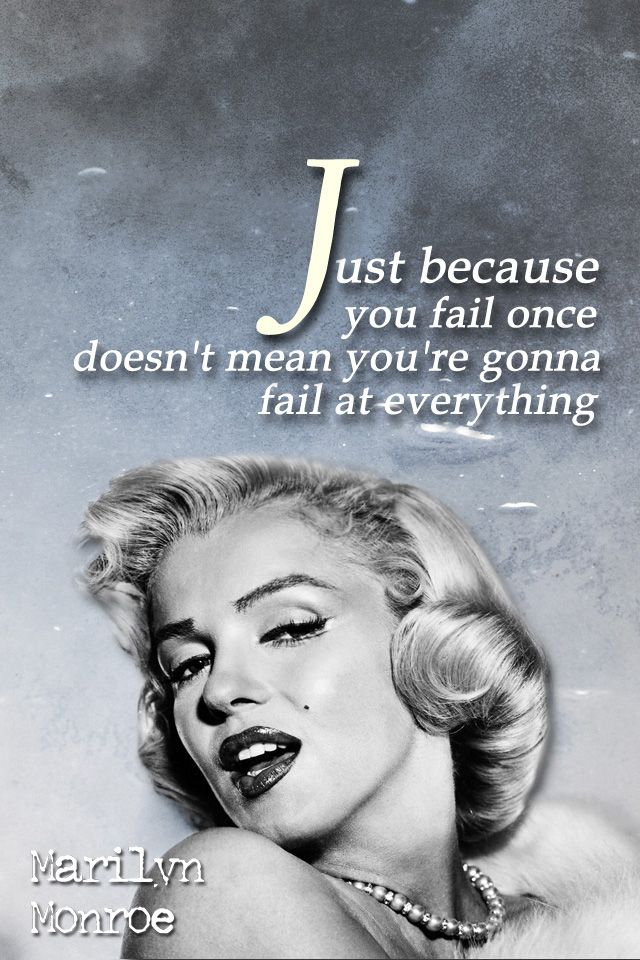 Marilyn Monroe Quotes Marilyn Monroe Iphone Wallpaper Inspirational Quote Just Because You