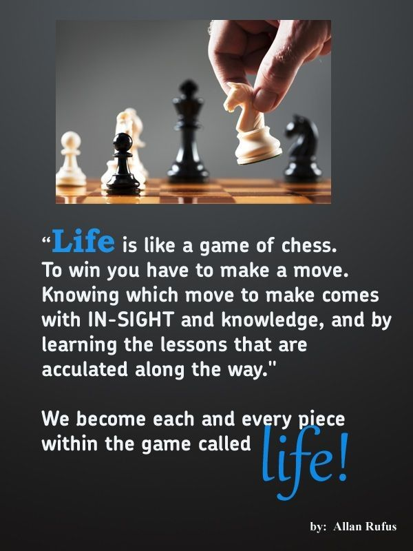 Life Quote Life Like A Chess