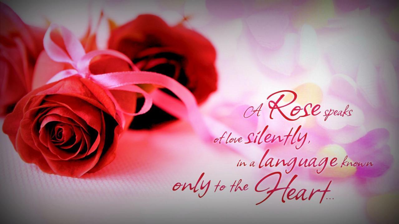 A Rose Speaks