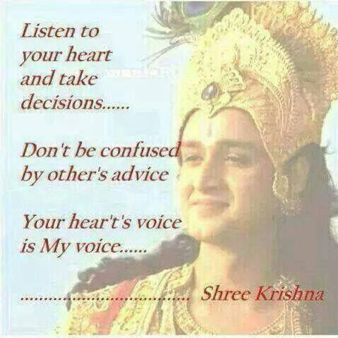 The Voice Guidance Of Intuition Or The Holy Spirit Is Heard Most Clearly When We Krishna Quoteshindu Quotesreligious Quoteslove