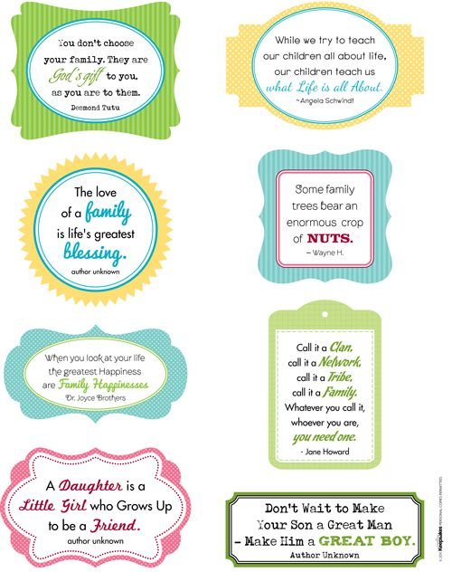 Family Quotes Printables For S Booking