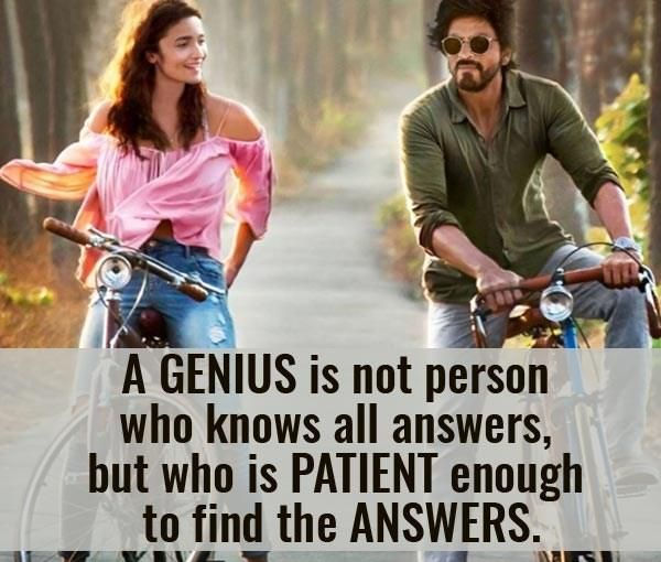 Life Lessons In Shah Rukh Khan And Alia Bhatts Dear Zindagi That You Would Be