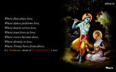 Radhe Krishna Quotes Wallpaper And Images Downloadradhe Krishna Quotes Quotes Of Radhe Krishnaradha Sitting Besides Krishna With Quote Wallpaper