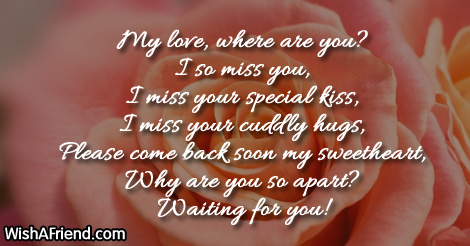 Missing You Messages For Husband My Love