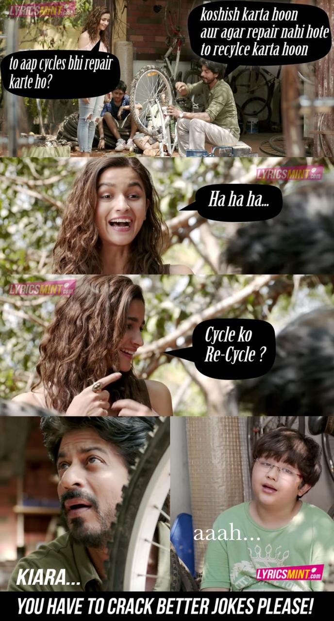 Dear Zindagi Dialogues And Quotes From Its Songs That Will Surely Lighten Up Your Mood This Is Gauri Shindes Starring Alia Bhatt And Shahrukh Khan
