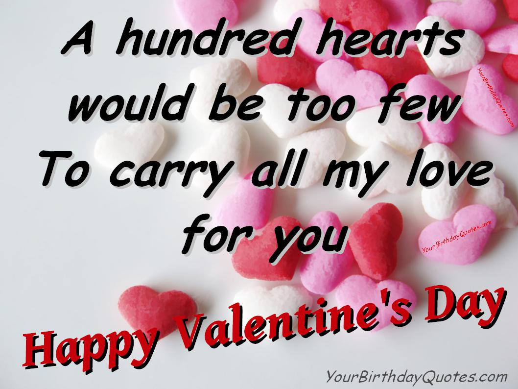 A Hundred Hearts For You Quotation