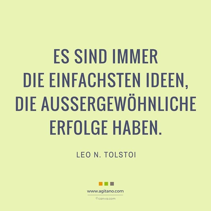 Leo N Tolstoi Es Sind Immer Einfachsten Agitano
