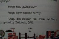 Ini Akhir Di Novel London Love Story