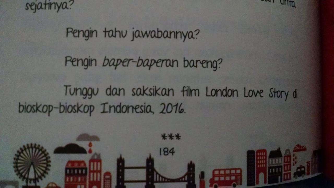 Ini Akhir Di Novel London Love Story