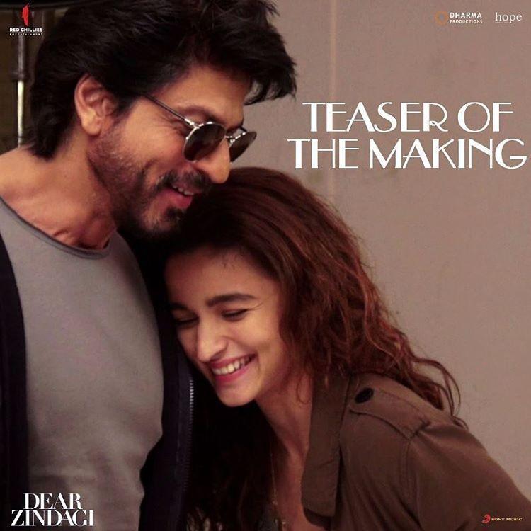 Shah Rukh Khanalia Bhattdear Zindagidear Zindagi Teaser