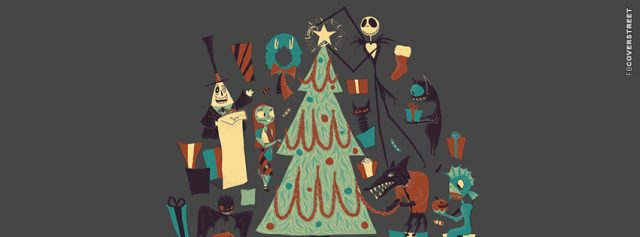 Nightmare Before Christmas Tree Facebook Cover