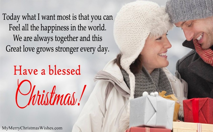 Christmas Greeting For Lover