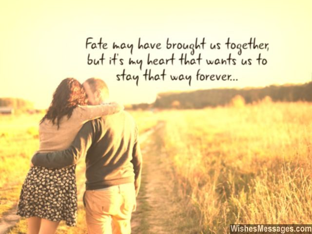 Fate Love Quote Fiance Fiancee My Heart Us To Be Together Forever