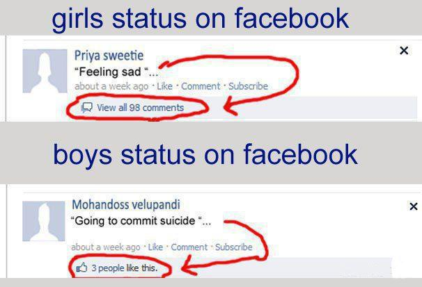 Girls Status On Facebook Funny Question