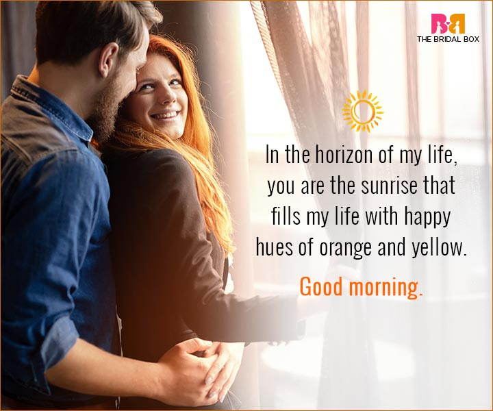 Good Morning Love Quotes For Husband Orange And Yellow