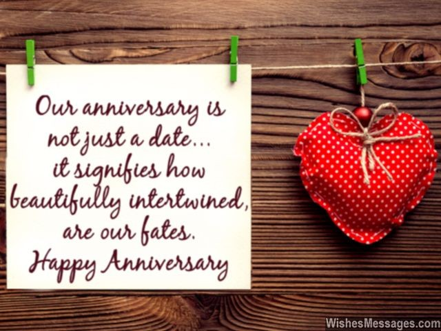 Happy Anniversary Message For Wife And Husband Love And Fate