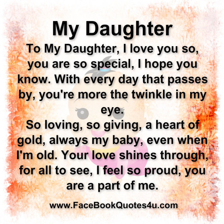 I Love You Daughter Quotes Beauteous I Love My Daughter Quotes For Hover Me