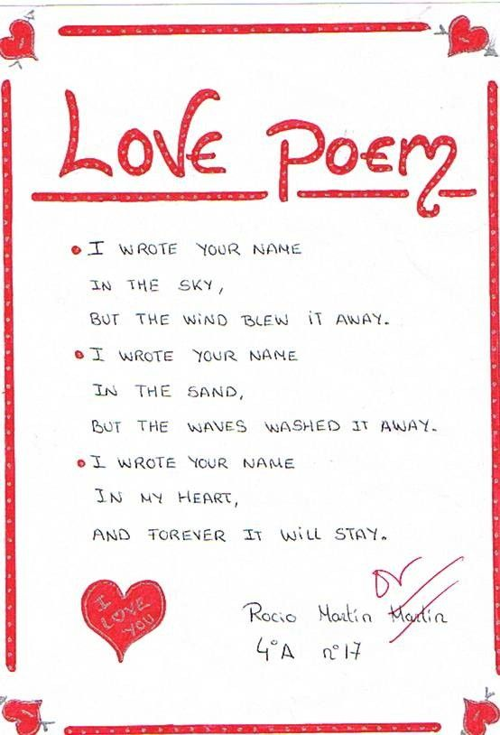I Wrote Your Name In The Sky Funny Love Poem Picture For