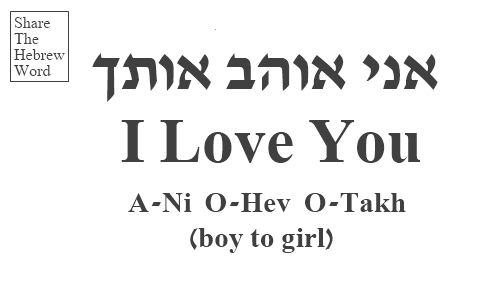 I Love You In Hebrew Boy