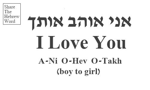 I Love You In Hebrew Boy