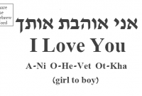 I Love You In Hebrew Girl