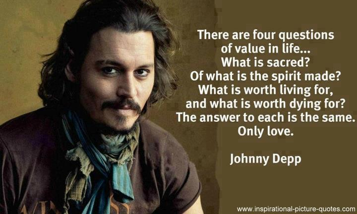 Johnny Depp Love Quotes