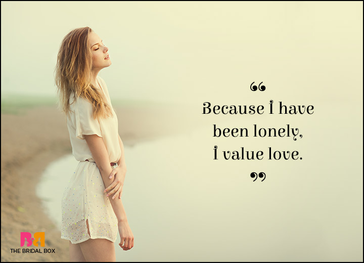 Lonely Love Quotes Worth