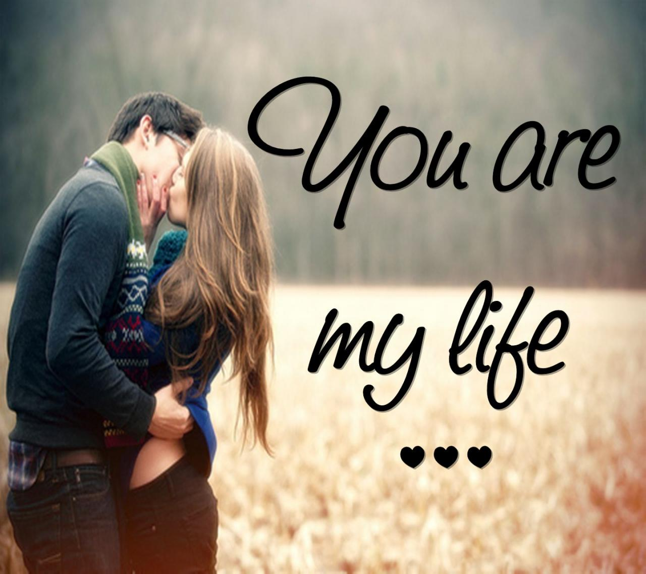 Love Couple Kiss With Quotes Free Download Images