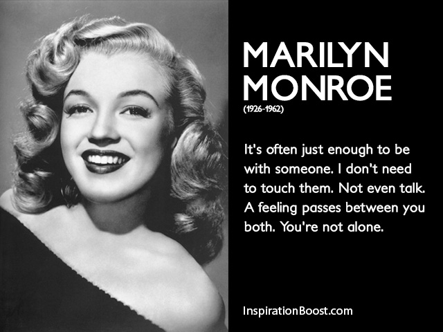 Marilyn Monroe Relationship Quotes