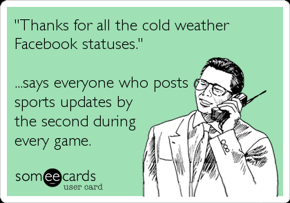 Thanks For All The Cold Weather Facebook Statuses Says Everyone